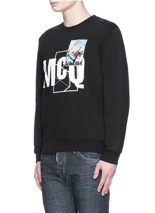 Front View - Click To Enlarge - McQ Alexander McQueen - Photo patch logo print sweatshirt