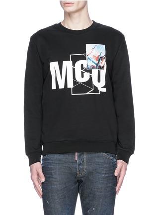 Main View - Click To Enlarge - McQ Alexander McQueen - Photo patch logo print sweatshirt