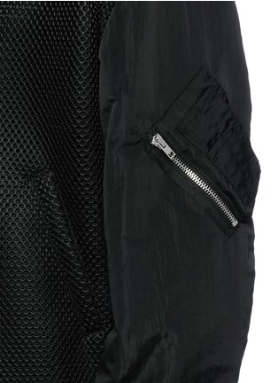 Detail View - Click To Enlarge - McQ Alexander McQueen - 'MA-1' mesh and crinkled tech cotton bomber jacket