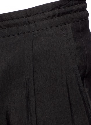 Detail View - Click To Enlarge - McQ Alexander McQueen - Rib cuff linen blend pants