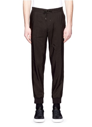 Main View - Click To Enlarge - McQ Alexander McQueen - Rib cuff linen blend pants