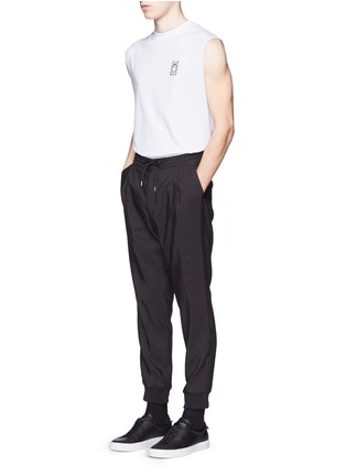 Figure View - Click To Enlarge - McQ Alexander McQueen - Rib cuff linen blend pants