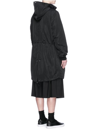 Back View - Click To Enlarge - McQ Alexander McQueen - Crinkled tech cotton hood parka