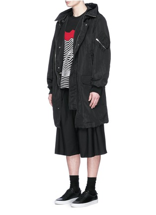 Figure View - Click To Enlarge - McQ Alexander McQueen - Crinkled tech cotton hood parka