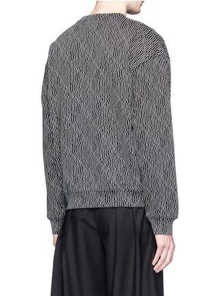 Back View - Click To Enlarge - McQ Alexander McQueen - Geometric stick print oversize sweatshirt