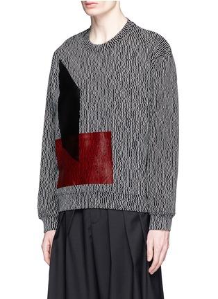 Front View - Click To Enlarge - McQ Alexander McQueen - Geometric stick print oversize sweatshirt