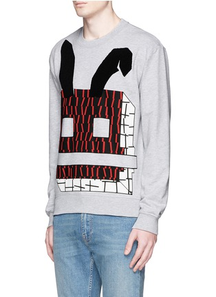 Front View - Click To Enlarge - McQ Alexander McQueen - Angry bunny print sweatshirt