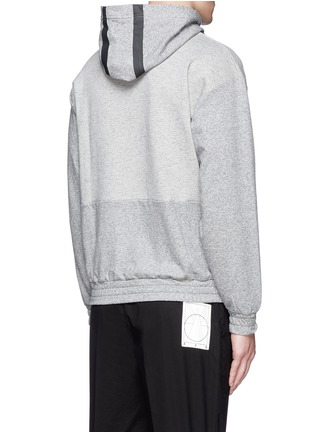 Back View - Click To Enlarge - McQ Alexander McQueen - Tape print oversize hoodie