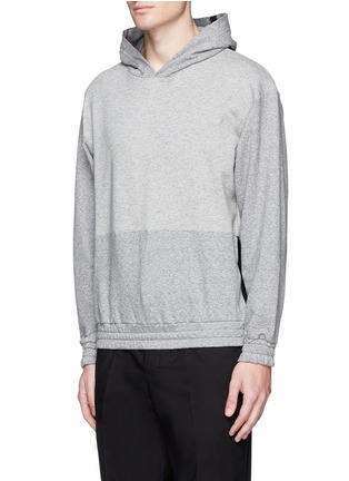 Front View - Click To Enlarge - McQ Alexander McQueen - Tape print oversize hoodie