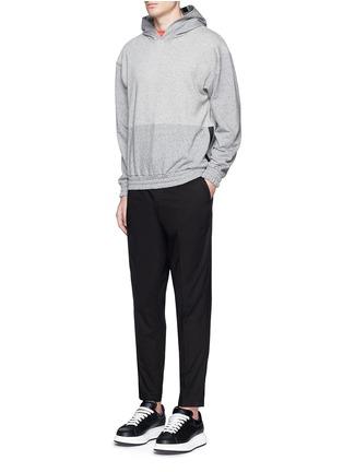 Figure View - Click To Enlarge - McQ Alexander McQueen - Tape print oversize hoodie