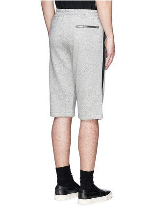 Back View - Click To Enlarge - McQ Alexander McQueen - Tape print sweat shorts