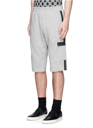 Front View - Click To Enlarge - McQ Alexander McQueen - Tape print sweat shorts