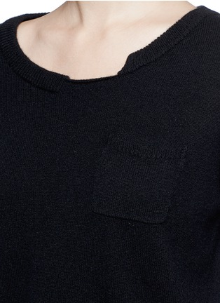 Detail View - Click To Enlarge - PREEN BY THORNTON BREGAZZI - 'Shan' cropped cashmere sweater