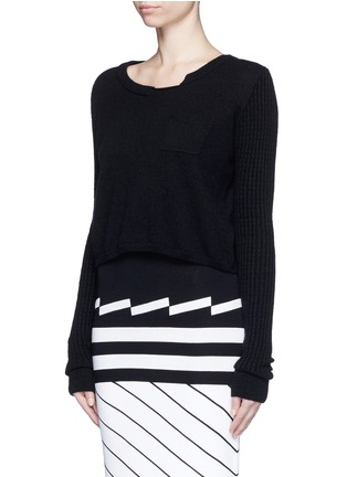 Front View - Click To Enlarge - PREEN BY THORNTON BREGAZZI - 'Shan' cropped cashmere sweater
