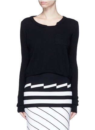Main View - Click To Enlarge - PREEN BY THORNTON BREGAZZI - 'Shan' cropped cashmere sweater