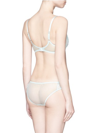 Back View - Click To Enlarge - L'Agent - 'Idalia' lace tulle non-padded demi bra