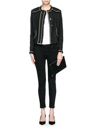 Figure View - Click To Enlarge - J BRAND - 'Capri' mid rise cropped skinny jeans