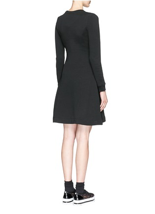 Back View - Click To Enlarge - KENZO - Geometric logo embroidery skater sweater dress