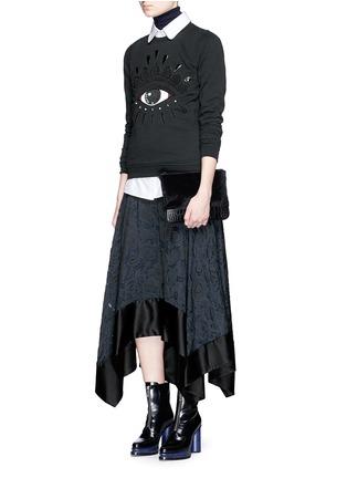 Figure View - Click To Enlarge - KENZO - Beaded eye embroidery sweatshirt