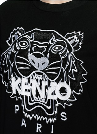 Detail View - Click To Enlarge - KENZO - Tiger embroidery crepe sweater