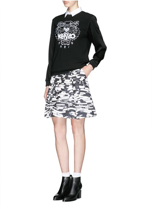 Figure View - Click To Enlarge - KENZO - Tiger embroidery crepe sweater