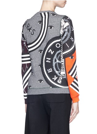 Back View - Click To Enlarge - KENZO - Mix logo tiger embroidery sweatshirt
