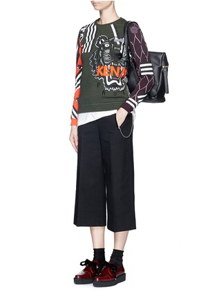 Figure View - Click To Enlarge - KENZO - Mix logo tiger embroidery sweatshirt