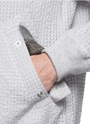 Detail View - Click To Enlarge - Sacai - Seersucker bomber jacket