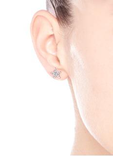 Khai Khai 'Moon & Star' diamond earrings
