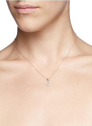 Detail View - Click To Enlarge - Khai Khai - 'At @' diamond pendant necklace