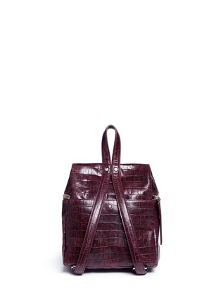 Detail View - Click To Enlarge - KARA - Small croc embossed leather backpack
