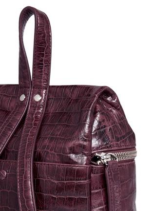 - KARA - Small croc embossed leather backpack