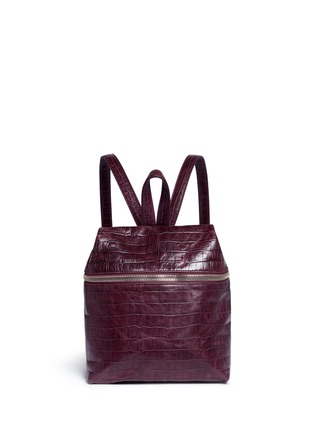 Main View - Click To Enlarge - KARA - Small croc embossed leather backpack