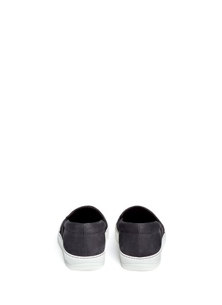 Back View - Click To Enlarge - Lanvin - Calf hair and suede skate slip-ons