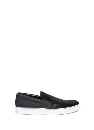 Main View - Click To Enlarge - Lanvin - Calf hair and suede skate slip-ons