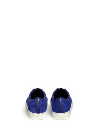 Back View - Click To Enlarge - Lanvin - Gummy toe cap suede sneakers