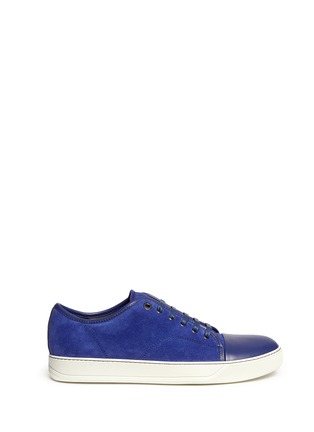 Main View - Click To Enlarge - Lanvin - Gummy toe cap suede sneakers