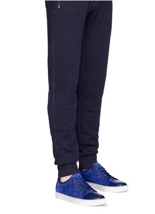 Figure View - Click To Enlarge - Lanvin - Gummy toe cap suede sneakers