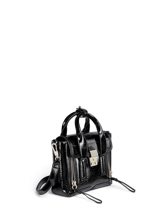 Front View - Click To Enlarge - 3.1 Phillip Lim - 'Pashli' mini patent leather satchel