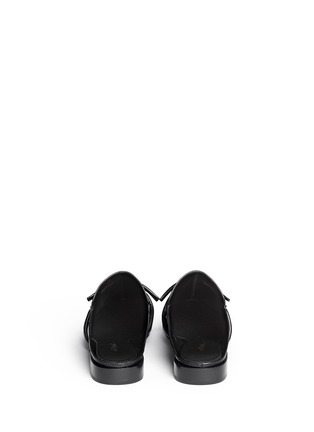Back View - Click To Enlarge - 3.1 Phillip Lim - 'Louie' knotted leather mules
