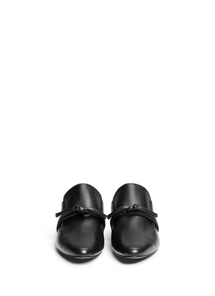 Front View - Click To Enlarge - 3.1 Phillip Lim - 'Louie' knotted leather mules