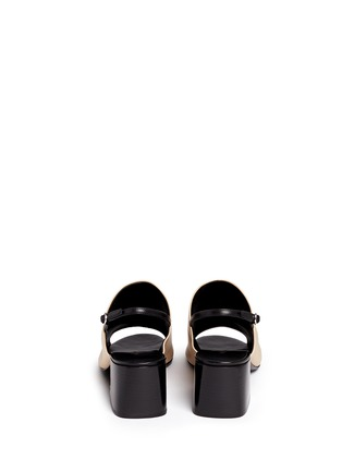 Back View - Click To Enlarge - 3.1 Phillip Lim - 'Cube' leather slingback sandals