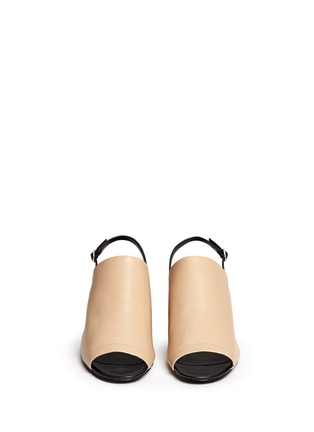 Front View - Click To Enlarge - 3.1 Phillip Lim - 'Cube' leather slingback sandals