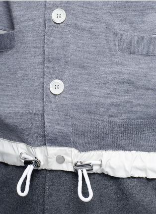 Detail View - Click To Enlarge - Sacai - Drawstring hem wool cardigan