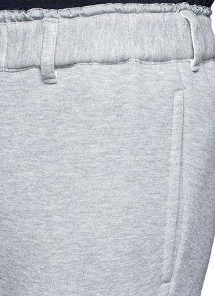 Detail View - Click To Enlarge - Sacai - Windbreaker trim drawstring jersey sweatpants