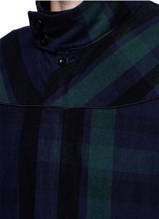 Detail View - Click To Enlarge - Sacai - Check plaid flannel blouson jacket