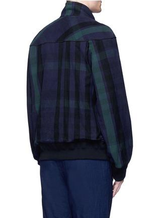 Back View - Click To Enlarge - Sacai - Check plaid flannel blouson jacket