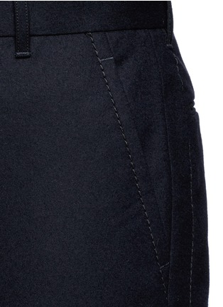Detail View - Click To Enlarge - Sacai - Slim fit ribbed cuff wool pants