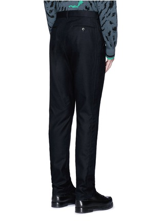 Back View - Click To Enlarge - Sacai - Slim fit ribbed cuff wool pants