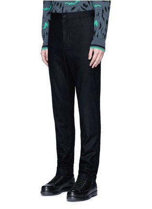 Front View - Click To Enlarge - Sacai - Slim fit ribbed cuff wool pants